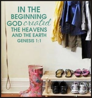 Genesis 1:1 Wall Decal