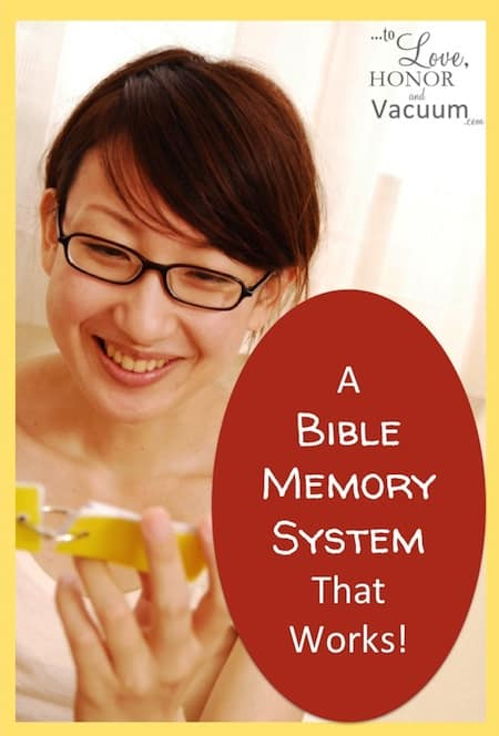 A Bible Verse Memory System That Works!