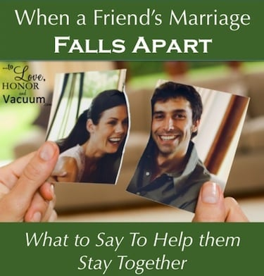 When a Friend Wants a Divorce--What do you say?