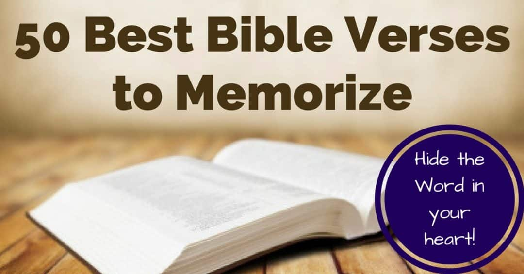 FB 50 Best Bible Verses to Memorize - Top 10 Biggest Posts of 2019!