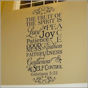 Galatians 5:22 Fruit of the Spirit Wall Decal--$36