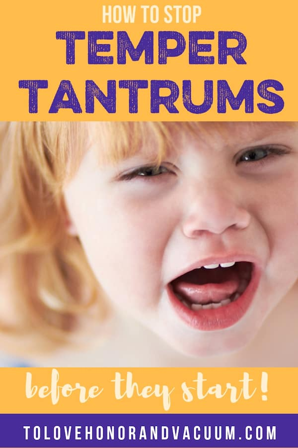 Stop Toddler Temper Tantrums - How to Stop Temper Tantrums Before They Start