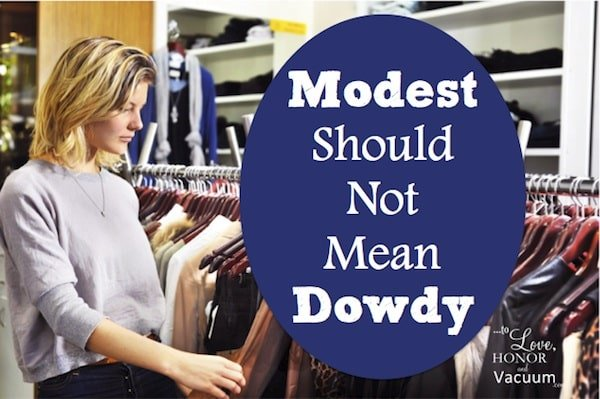 Modest Should Not Mean Dowdy--how Christians sometimes adopt too stringent a view of modesty