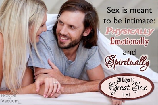 29 Days to Great Sex: The Purpose of Sex, the act of marriage.