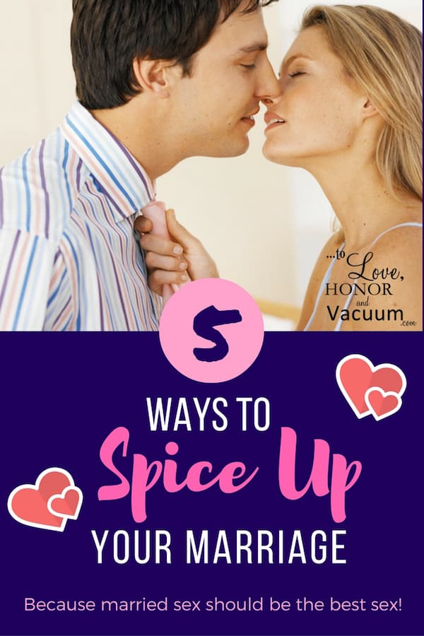 5 Ways to Spice Up Your Marriage: ways to spice up your sex life in the bedroom, because boring sex is no fun--and married sex should be the best sex! Great sex advice from a Christian perspective.