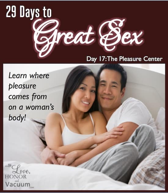 29 Days to Great Sex Day 17: The Pleasure Center