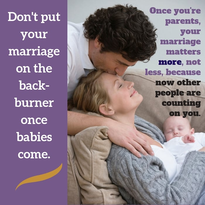 Keep marriage your priority even when kids come--which means having sex!
