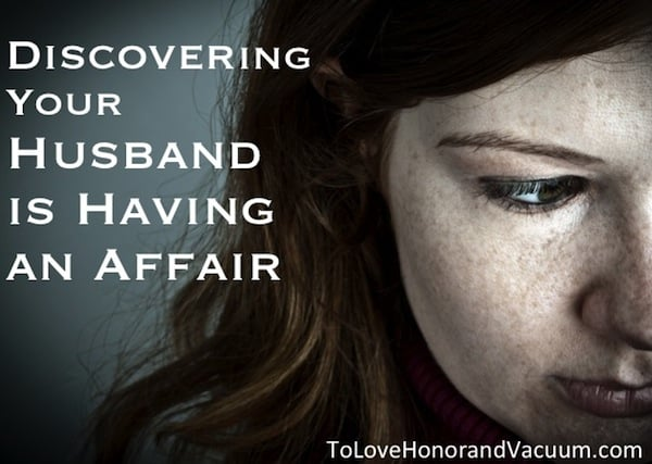 Husband having an affair what to do