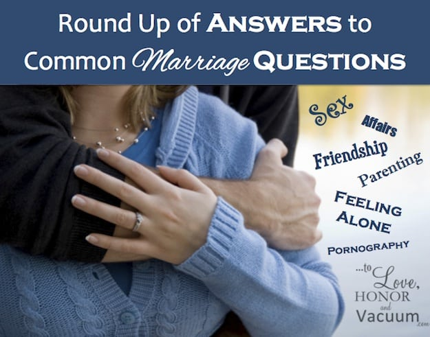Common Marriage Questions - Where To Find Specific Marriage Advice