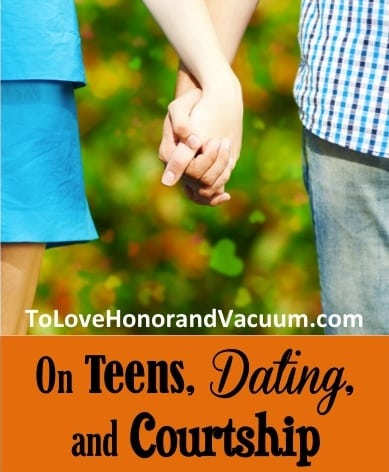Do we focus so much on courtship and on stopping kids from dating that we make it too difficult for them to form healthy relationships? From a mom who used to be full-throttle courtship--some new thoughts as her kids grew older.