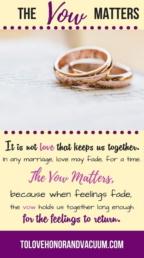 The Vow Matters - Wifey Wednesday: What the Vow Means