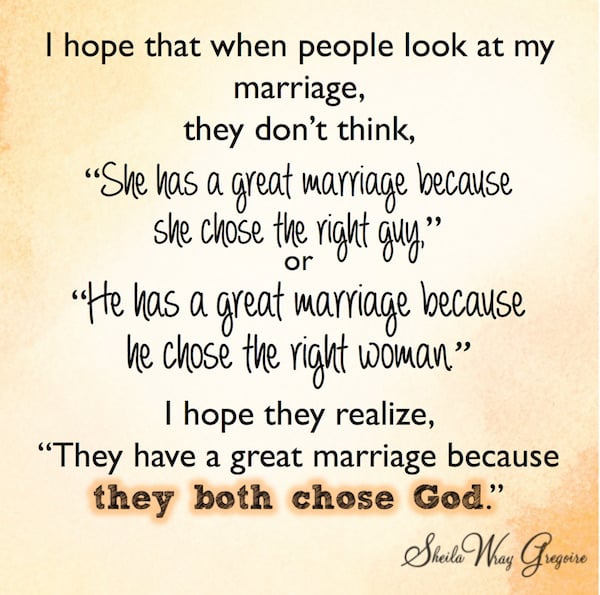 Marriage works best when we both choose God!