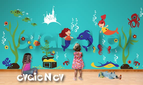 Ideal Under the Sea Wall Decal