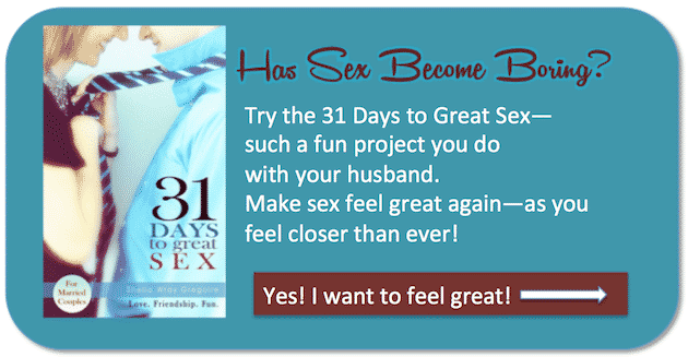 31 Days to Great Sex--a series of fun challenges to do with your husband that make your marriage rock! #marriage