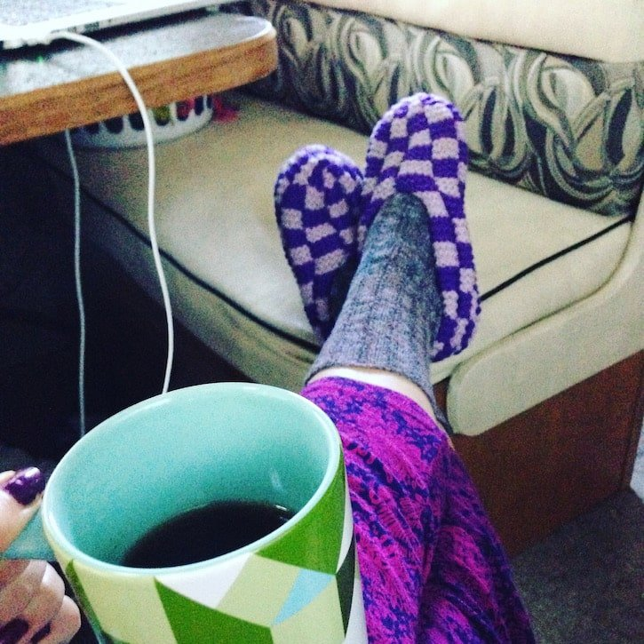 Life in an RV: Teas, Slippers, and everything Comfy
