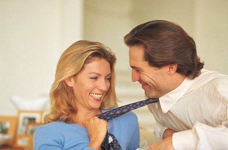 Woman Pull Tie - 10 Simple Ways to Put Sexy Back into Your Marriage