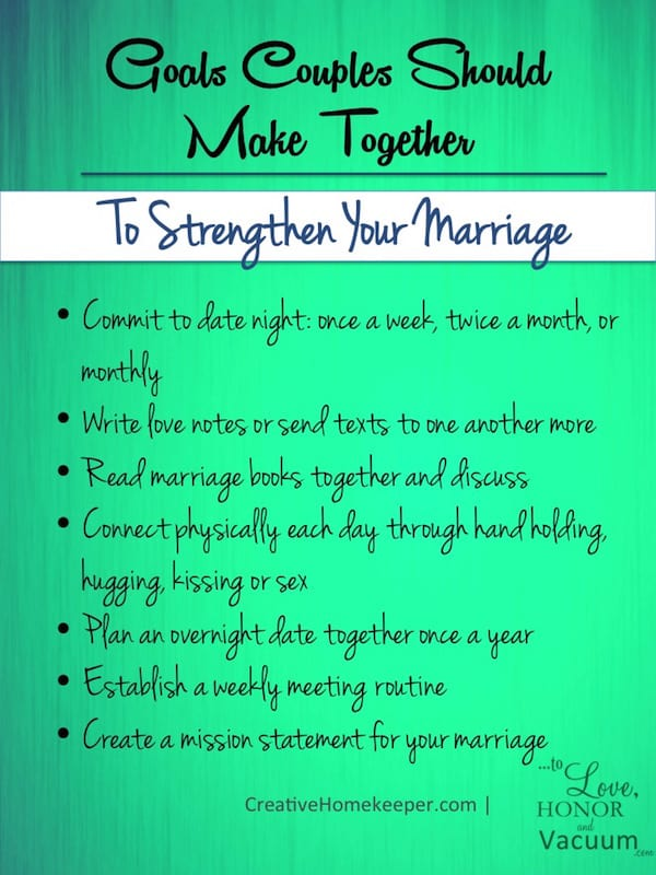 Goals Marriage List - Wifey Wednesday: Setting Goals as a Couple