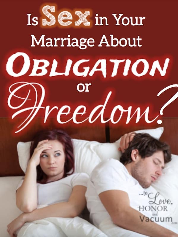 "Obligation Sex - How to Move Beyond ""Obligation Sex"" to Real Freedom"