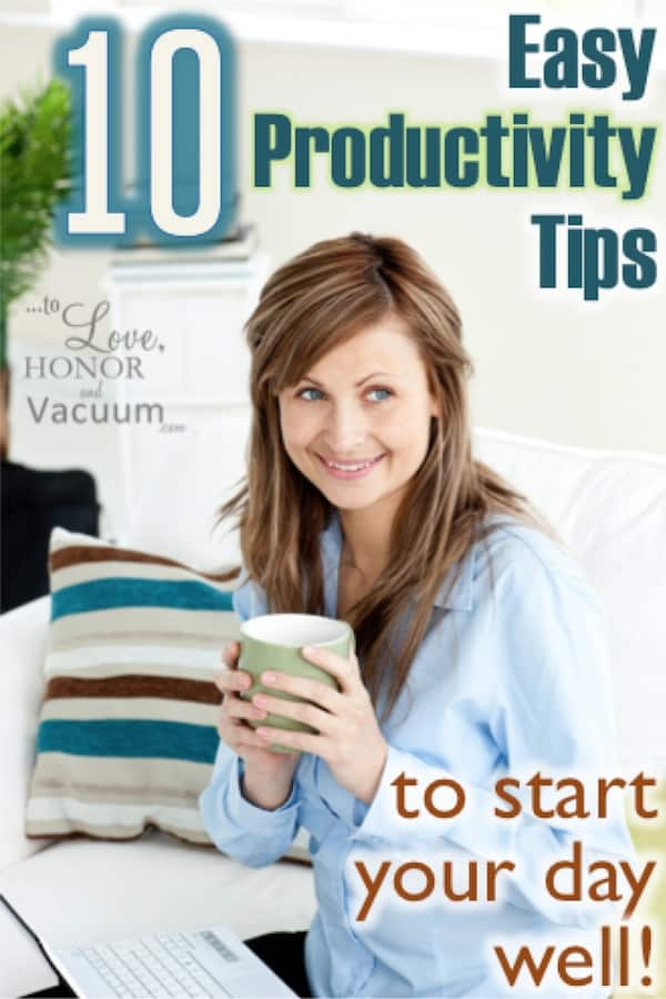 10 Morning Productivity Tips to start your day well!