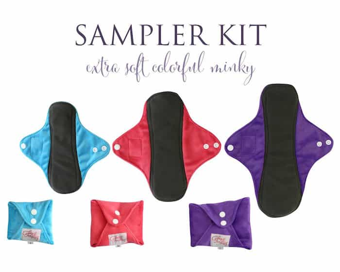 Cloth Pads   Solid Minky   Sampler Kit 1024x1024 - How Cloth Pads and Reusable Menstrual Cups Can Seriously Change Your Life