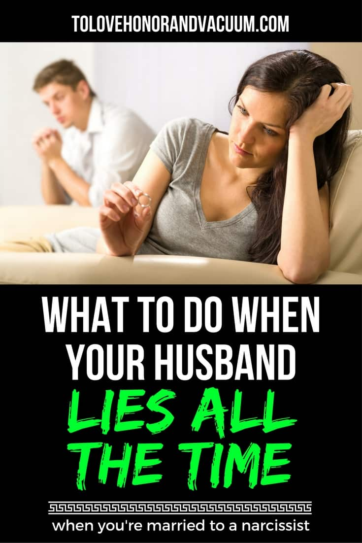 What do you do when your husband lies? What if he's a habitual liar? Here is some marriage advice for you: