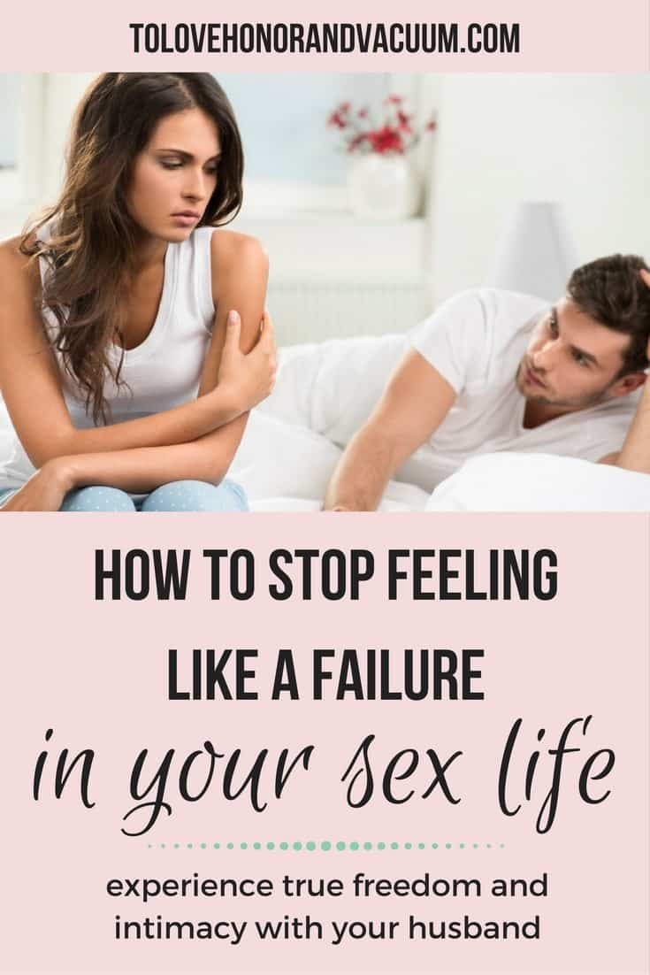 Do you feel, sometimes, like you're a failure in your marriage? Are you tired of feeling like a failure with your sex life? It's time to experience freedom with your husband, to rekindle that joy or find it for the first time.