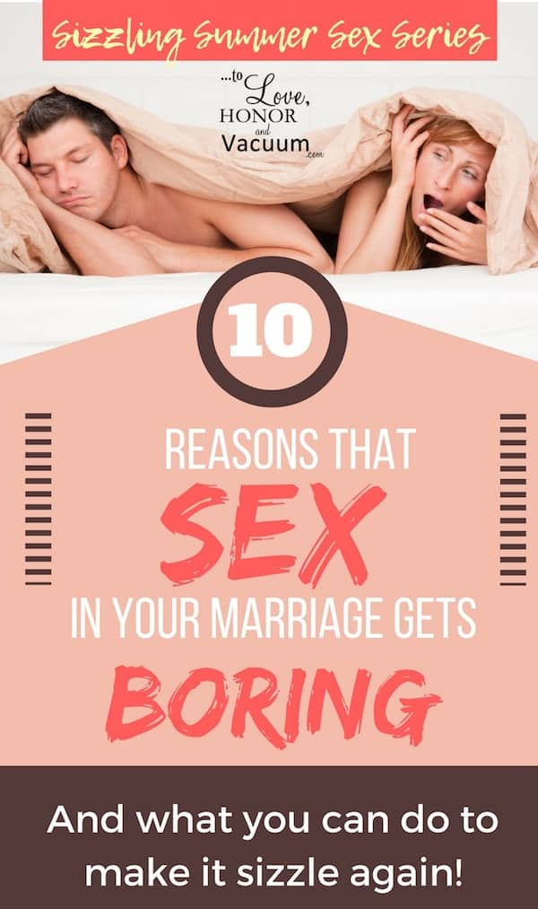What happens when sex becomes boring