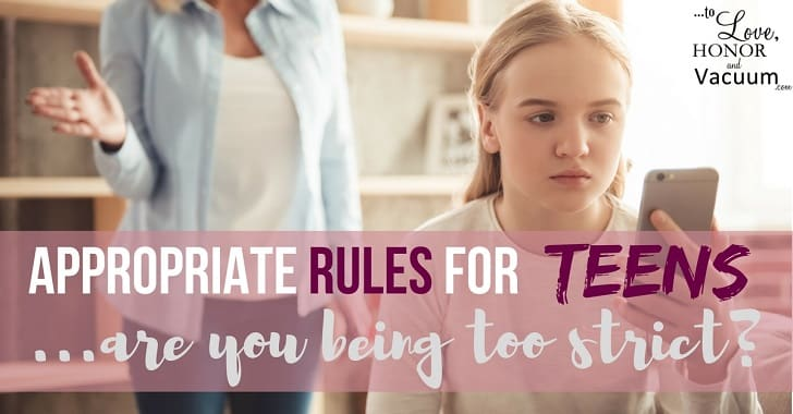 Reader Question: What Rules are Appropriate for Teenagers?