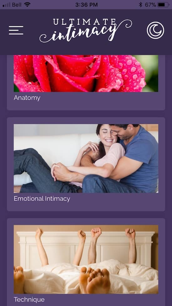 Ultimate Intimacy App: Help married couples learn more about sex and get more comfortable with it!