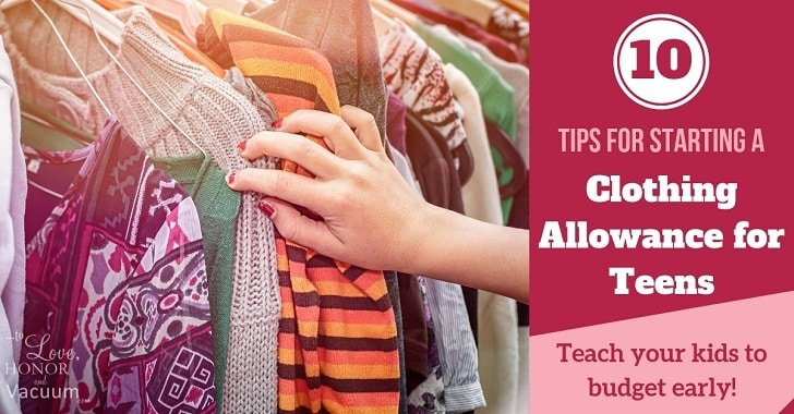 10 Tips for Starting a Clothing Allowance for Teens