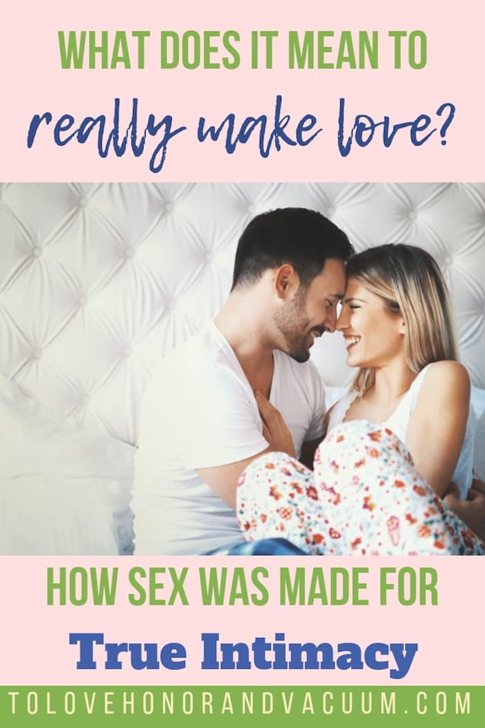 What Does It Mean to Make Love?