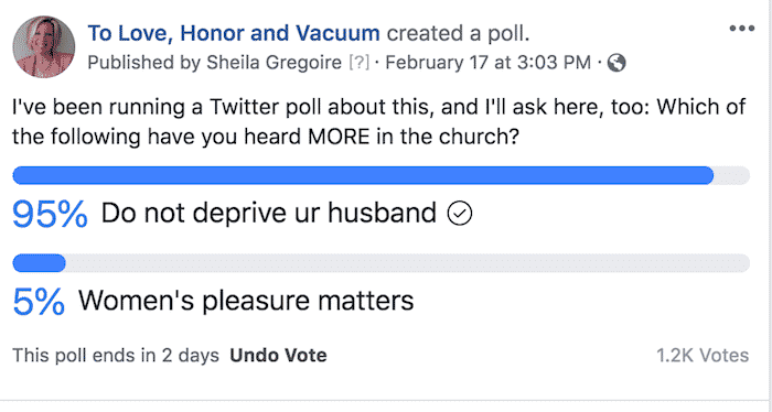 "Facebook Do Not Deprive Poll - MUTUAL SEX SERIES: Can the ""Do Not Deprive"" Verses Apply to Women's Needs, Too?"