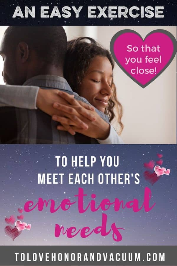Meet Each Others Needs - A Way to Show Love to Your Spouse--and Meet their Emotional Needs