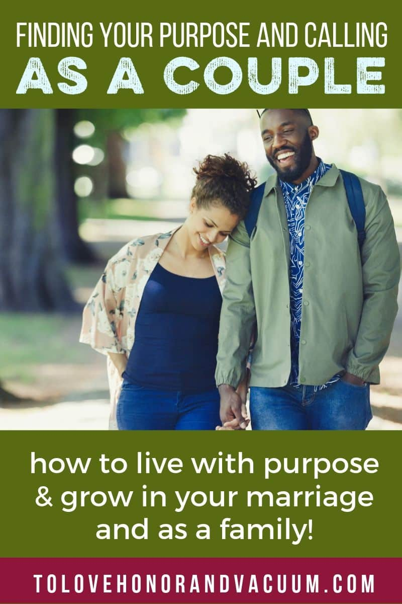 Living with purpose as a couple: a worksheet to help couples find their purpose and make goals together!