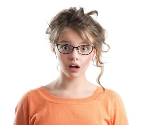 Shocked girl image TWS - Coaching a Young Girl Through Her First Period at an Airport Bathroom