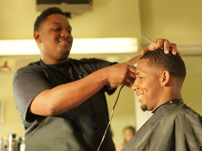 Man Getting a Haircut to Be Attractive to his Wife - 10 Tips to Stay Attractive for Your Wife