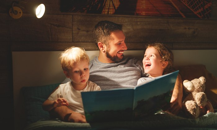 Dad Reading to His Kids Gets Wife in the Mood - 10 Ways to Get Your Wife in the Mood: Great Tips for Husbands!