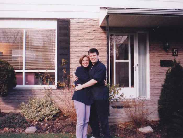 Keith and Sheila soon after we bought our house