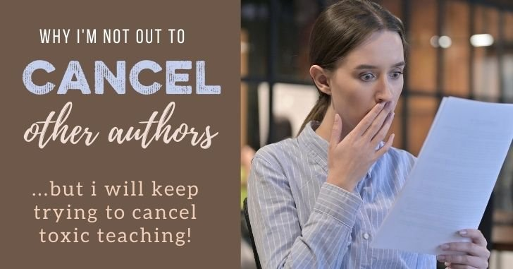 Why I'm Not Trying to Cancel Other Marriage Authors