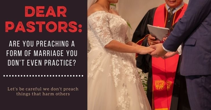 FB Pastors Preaching Not Practice - To Love, Honor and Vacuum: For Your Marriage