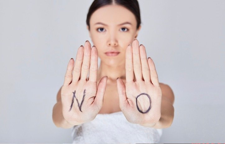 Woman Saying No in Emotionally Destructive Relationship - 10 Truths About Emotionally Destructive Marriages